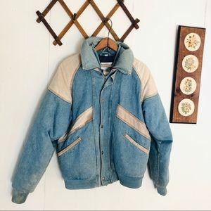 Vtg Denim Rancher Down Coat